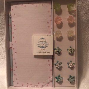 Stationery set floral pencil pad pushpins New